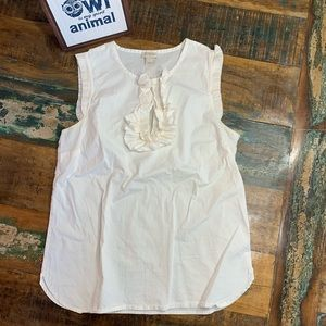J. Crew Sleeveless Ivory Blouse Sz 2